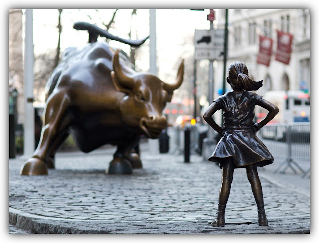 Charging Bull and Fearless Girl Statues