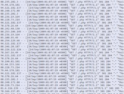 Sunucuya Gelen HTTP-Get Log Örnekleri