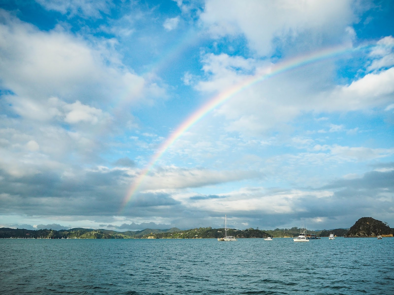 Rainbow over Paihia, New Zealand
