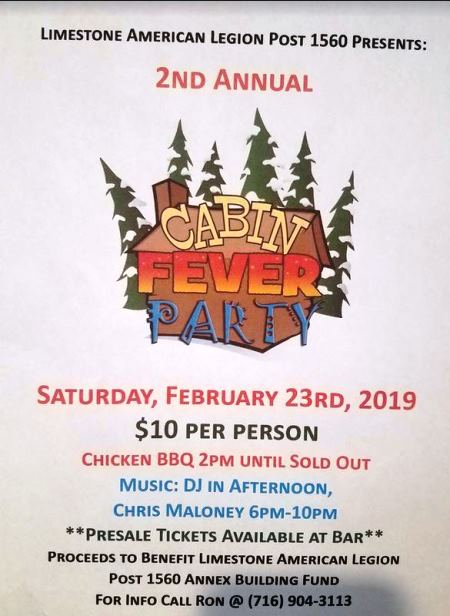 2-23 Cabin Fever Party Limestone