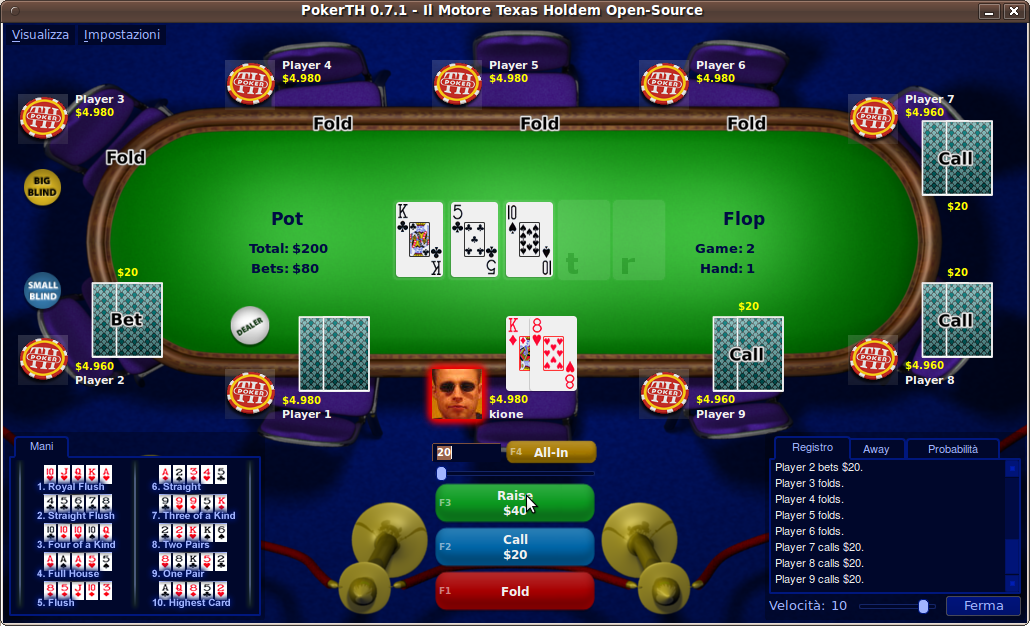 Giocare a poker texas hold em gratis