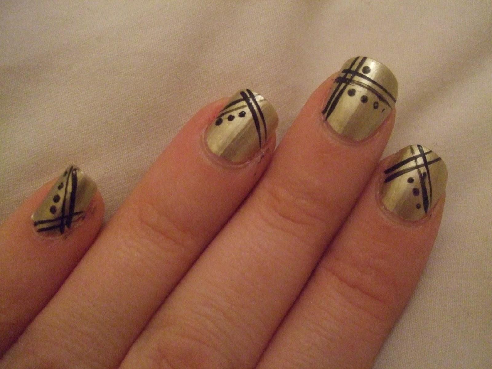 Art Deco Nail Art Designs
