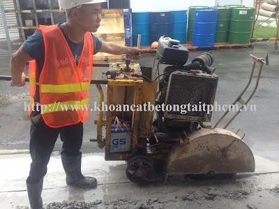 Khoan cắt bê tông tại huyện Hồng Dân