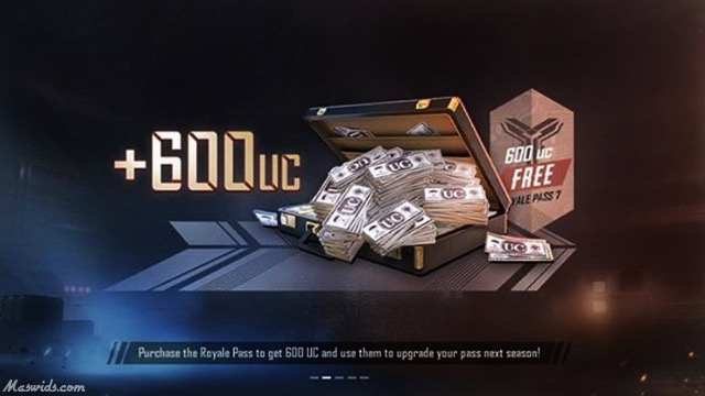 gratis uc 600 di royale pass season 7