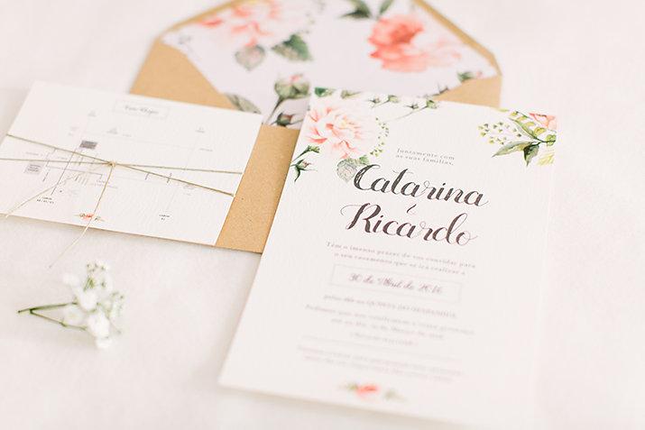 convites casamento Catarina e Ricardo