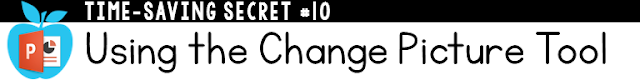 Using the change picture tool in PowerPoint
