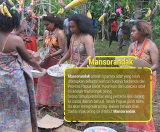 Tradisi Mansorandak Papua