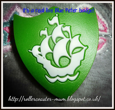 green Blue Peter Badge