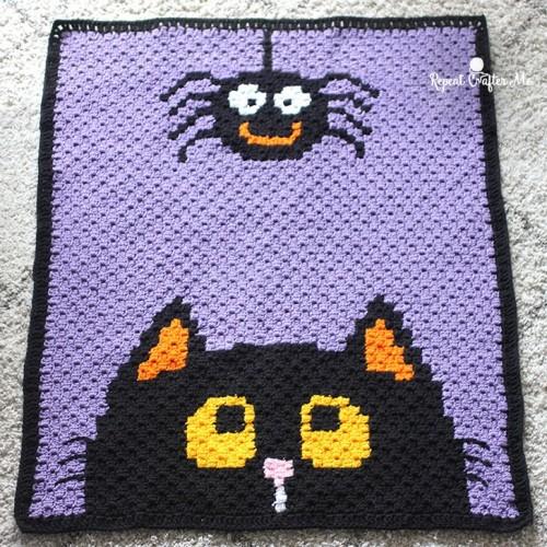 Crochet Halloween C2c Blanket - Free Pattern