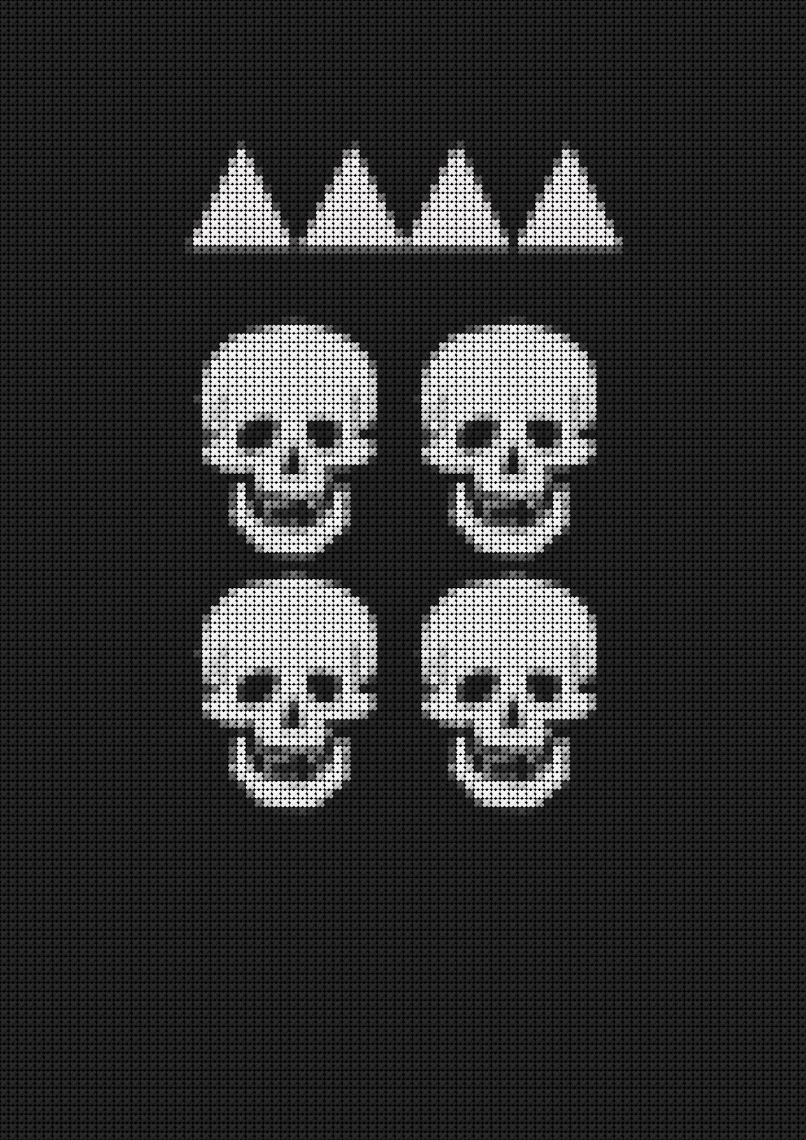 David's Drawing Room: Embroidered Skull