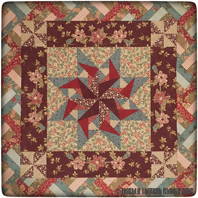 Thistle Thicket Studio, fence rail, ribbon border, medallion quilt, quilt guild challenge