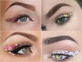 Flower eyeliner: La tendance d'eye-liner en fleurs de printemps