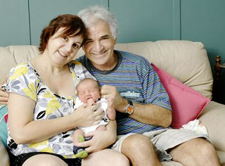 Image: Last-ditch works for new mum at 47