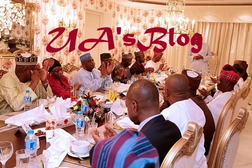 Tinubu, Saraki Missing As Buhari Hosts APC Party Chieftains To Dinner in Aso Rock