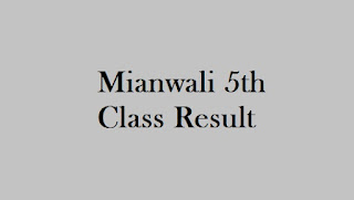 Mianwali 5th Class Result 2018 - BISE PEC Mianwali Board 5th Results