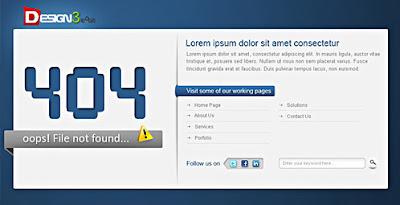 Páginas de error 404 en psd