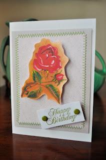 birthday card handmade image rose