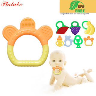 Bell Baby Teether BPA Free Silicone Teething Toys Dental Care Silicone Teether Chewable Silicone Pendants