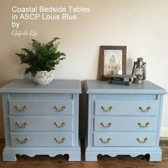 Coastal Look Bedside tables in ASCP Louis Blue by Lilyfield Life