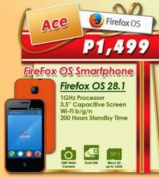 Cherry Mobile Ace, First Mozilla Firefox Smartphone in the Country for Php1,499