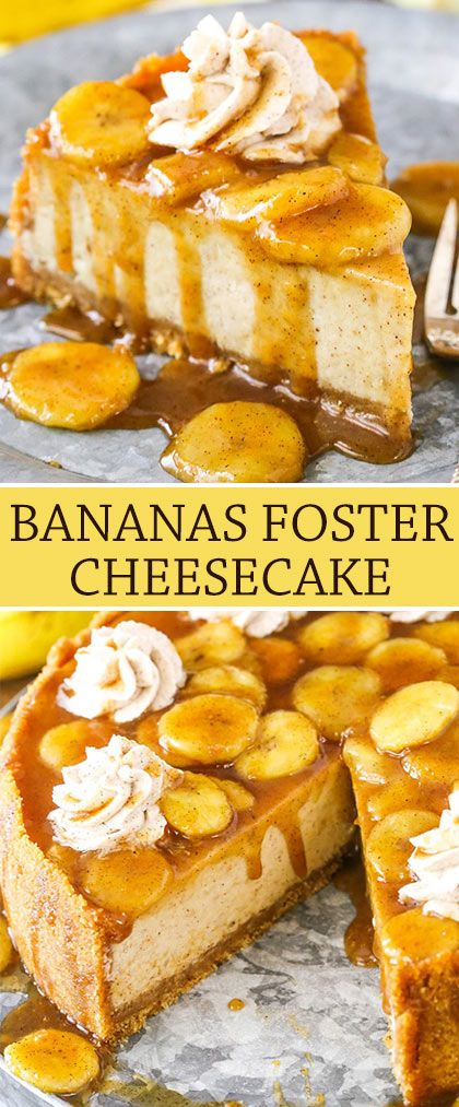 Amazing Bananas Foster Cheesecake