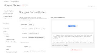 Bagaimana cara membuat tombol follow google plus di blog  Membuat Tombol Follow Google Plus Di Blog