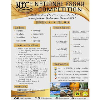 Lomba National Essay Competition 2018 by PRIMA UNRAM
