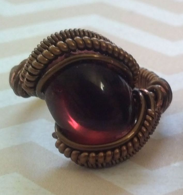 Wire Wrapped Ring Tutorial : Wire wrapped cabochon ring tutorial the beading gem s