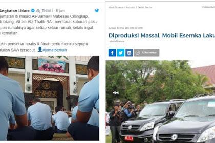 Akun TNI AU Sarankan Pembuat Hoax Bikin Kuburan Palsu di Depan Rumah, Netizen Bilang Buatnya di Depan Istana!