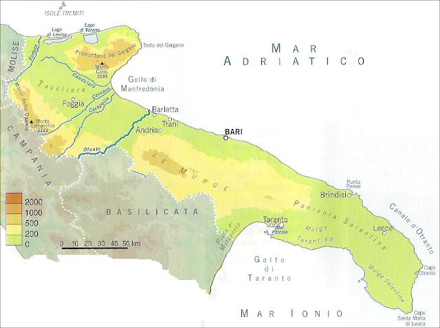Cartina Fisica Puglia Italia.Chi Viaggia Impara Immagini Dal Mondo Italia Puglia