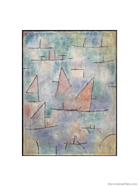 Hafen mit Segelschniffen by Paul Klee
