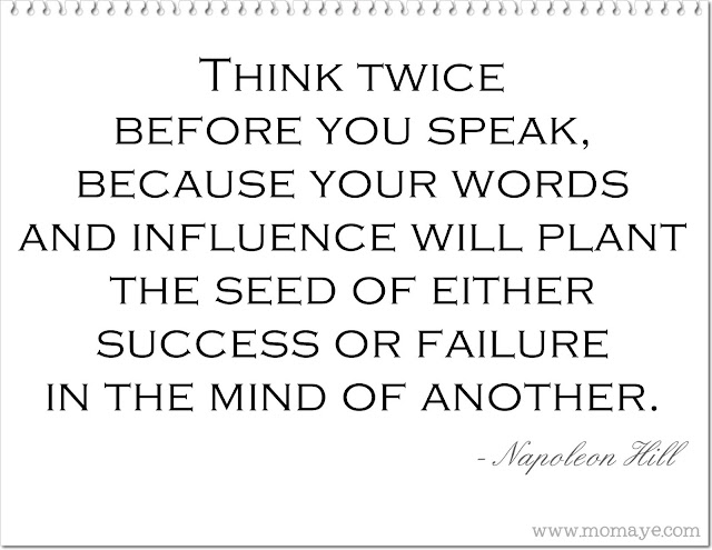 Daily Inspiration: Think Before You Speak