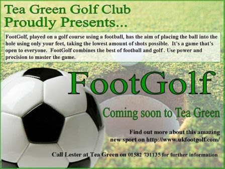 FootGolf at Tea Green Golf Club at Wandon End, Luton