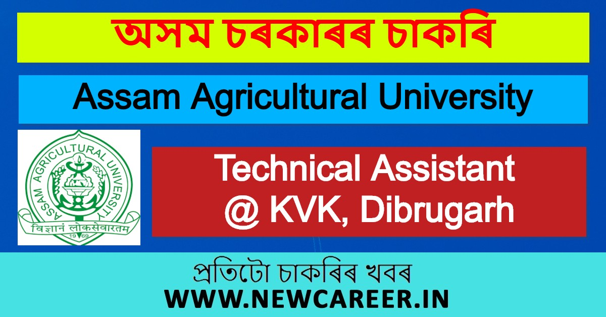 Assam Agricultural University Recruitment 2020: Apply for Technical Assistant @ KVK, Dibrugarh