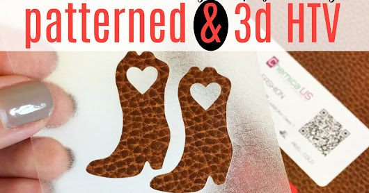 Patterned HTV in Fun New Patterns and Dimensions (Giveaway & Free Silhouette Studio Design)