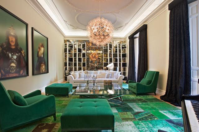 decoração-verde-esmeralda-verde-musgo