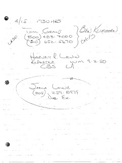 "Notebook1.pdf, Page 22, Handwritten Detective Note: ""Sheila Lowe"""