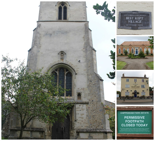 Collage of Chippenham's church, pub, old schoolroom and signage