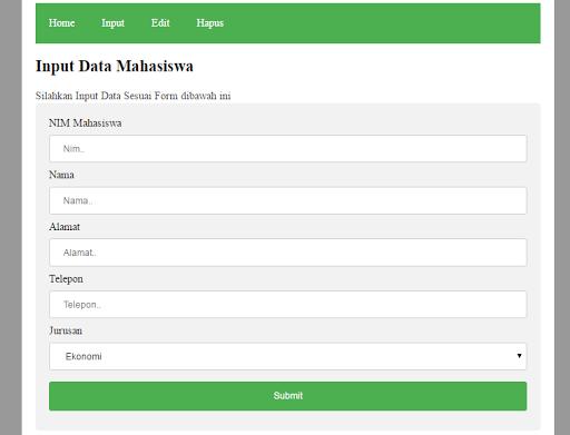Cara Input Data Dengan PHP