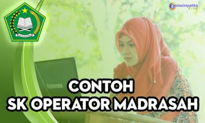 Contoh SK Operator Madrasah
