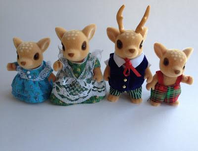 Sylvanian Families Moss Reindeer Family