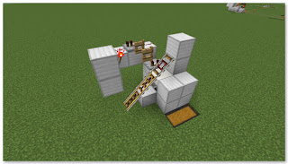 Minecraft 高速トロッコ輸送 アイテム荷降ろし駅(複線) 作り方①