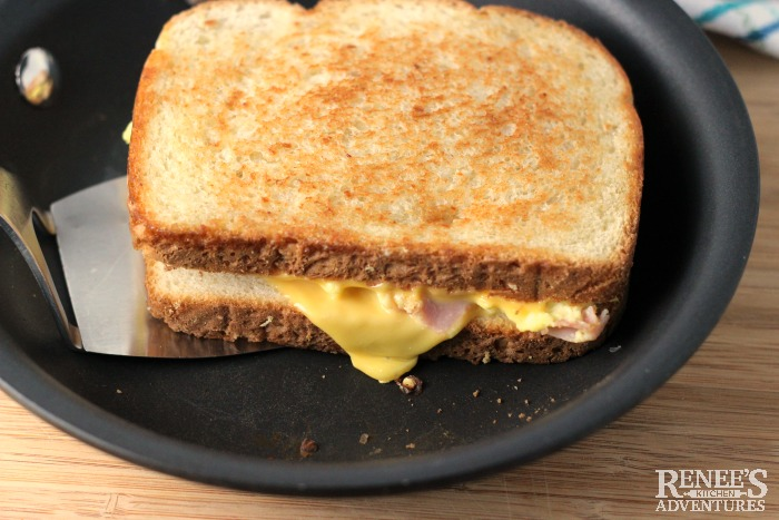 Grilled Ham, Egg, and Cheese Sandwich Renee's Kitchen Adventures Easy 6-ingredient Breakfast Sandwich recipe