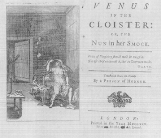 Venus: Frontispiece for Curll's 1725 Venus in the Cloister. (British Library)