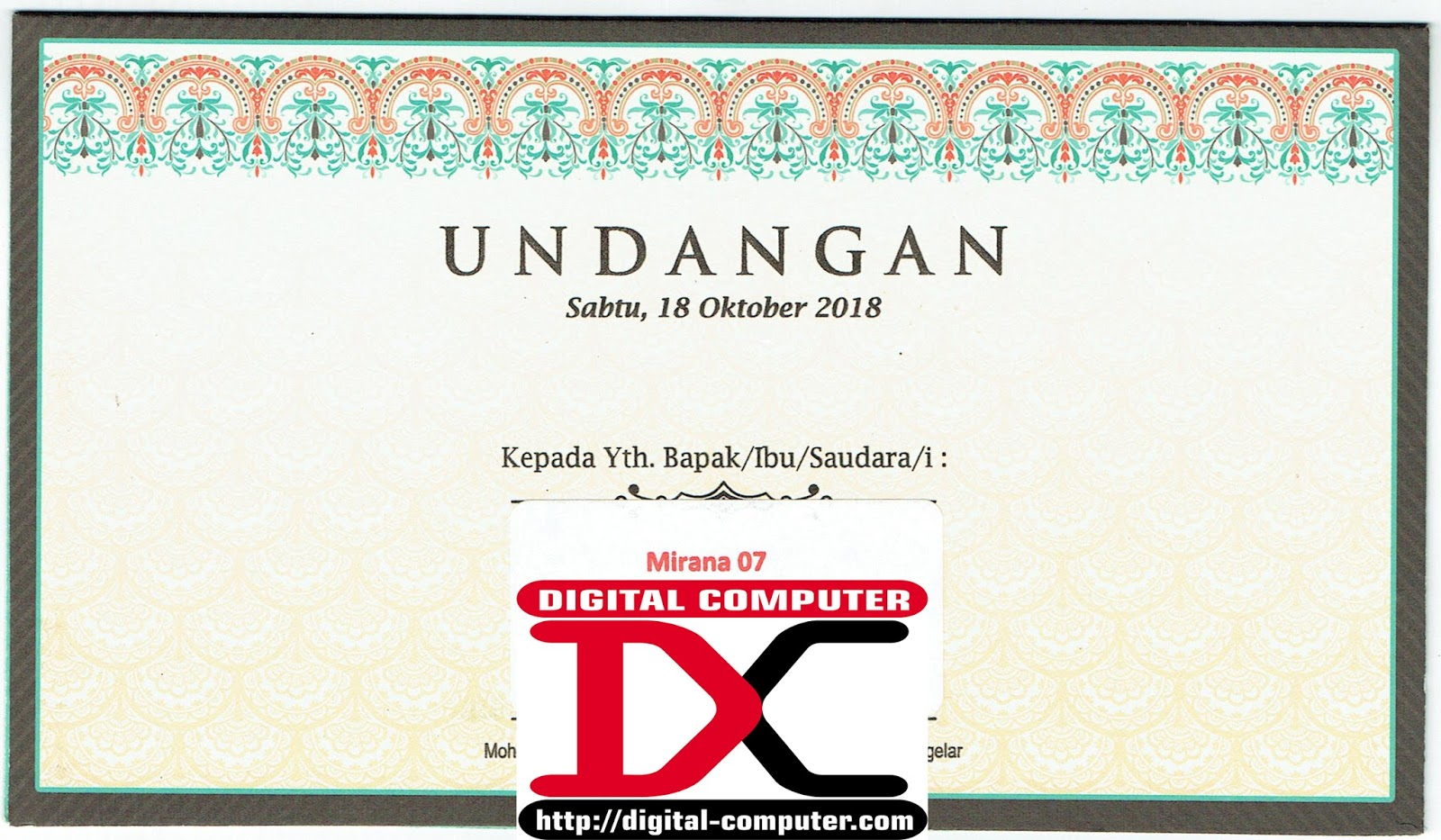 undangan pernikahan harga 2600 rupiah