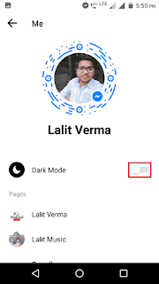 Facebook mein dark mode kaise lagaye