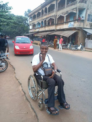"""My goal, against all odds, is to be able to walk again"" - Says Nigerian man who has been bedridden for 8 years"
