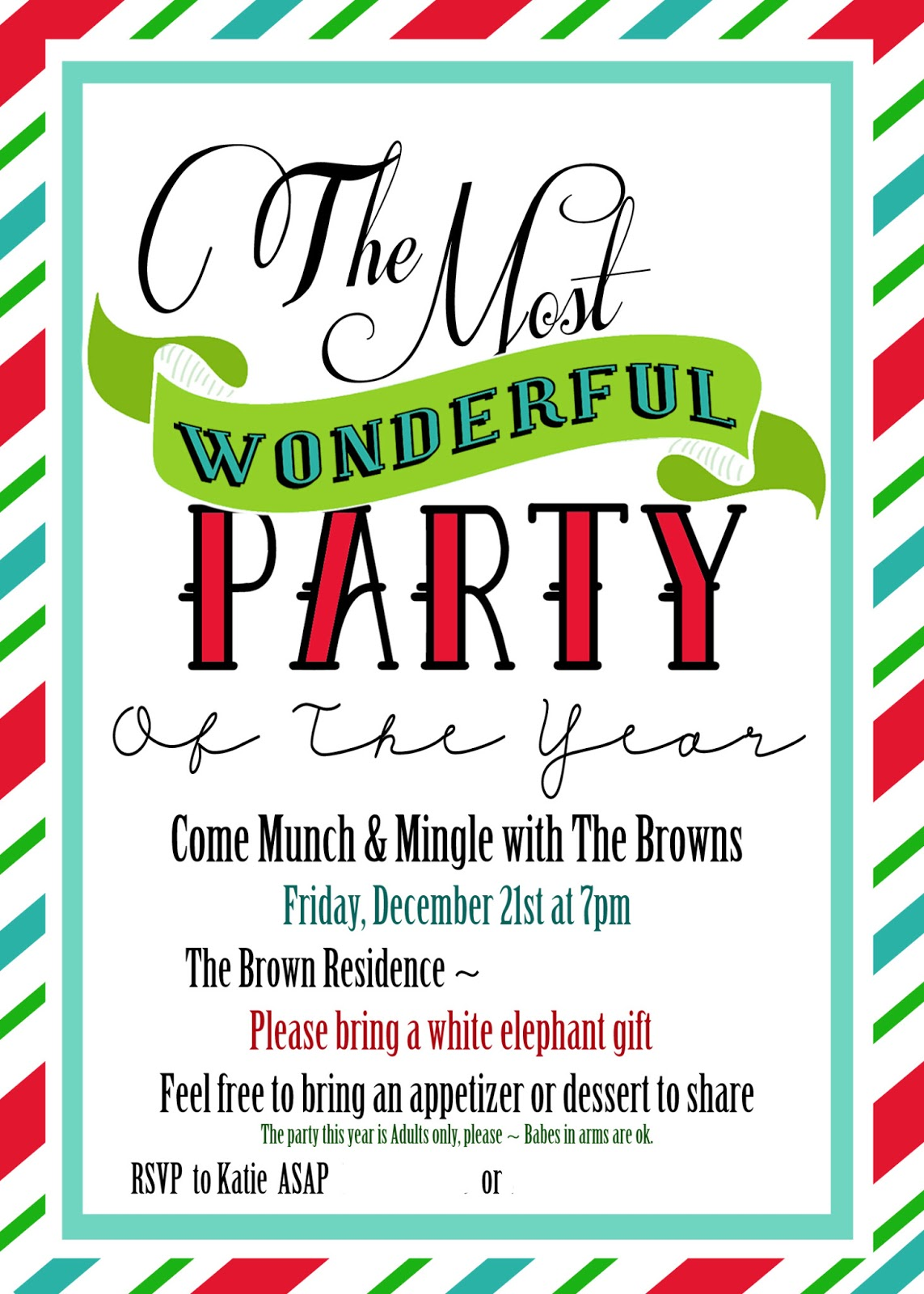 Magnificent Christmas Party Invitation Quotes Crest - Invitation ...