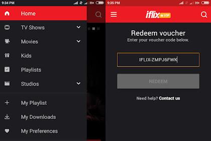 Mencoba Iflix Menggunakan Voucher Dari BliBli.com