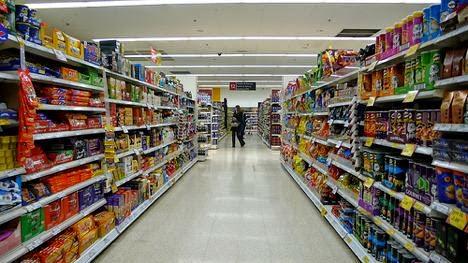 lineales de un supermercado
